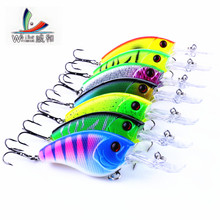 7 Pcs 10cm/11.8g Artificial Hard Plastic Mini Long Mouth Crazy Spinner Fishing Crank Bait Very Attractive Fish Fishing Tools(China)