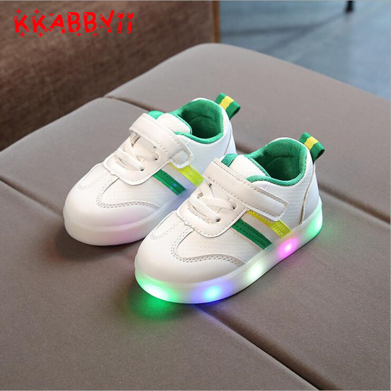 Kids LED Shoes New Spring Autumn Fashion Children Casual Sneakers Lovely Baby Boys Girls Shoes High Sports Kids Shoes