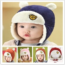 Hot sales Toddlers Cool Baby Boy Girl Kids Infant Winter Pilot ear Warm Cap Hat for 0-1years