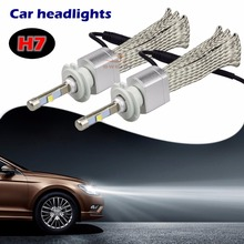Buy 2Pcs 80W 4800LM H7 Cree XHP-50 Chips Car LED Headlight Kit Bulb Xenon White 6000K Lamp H1 H3 H4 H11 H13 9004 9005 9006 9007 9012 for $67.20 in AliExpress store