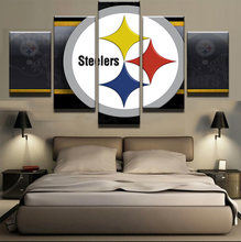 5 Panel Modern Printed Pittsburgh Steelers Sports Football Modern Home Wall Deco Canvas Picture Art HD Print Painting On Canvas