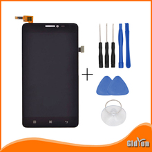 For Lenovo S850 LCD Display and Touch Screen Glass Sensor perfect replacement for Lenovo S850 Cell Phone-black+tools
