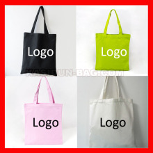 (100pcs/lot) custom eco reusable canvas tote cotton shopping bag logo(China)
