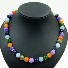 Classic Noble Sapphires Emeralds Aquamarines Amethysts Mandarin Garnet Russia Jades Beaded Necklace Natural Stone Jewelry