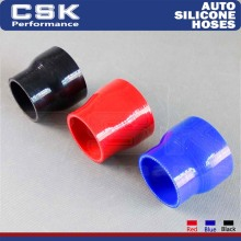 "1PCS 2.36"" to 3"" 60mm - 76mm Silicone Reducer Coupler Turbo Intercooler Hose  BLACK / RED / BLUE"