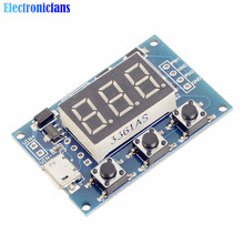 2 Channel Dual Way Independent PWM Generator Digital LED Duty Cycle Pulse Frequency Board Module 5-30V/Micro Usb 5V Power