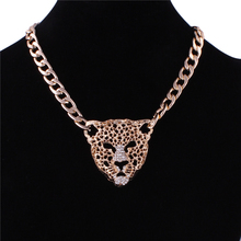 New Arrival Classic Animals Necklaces Pendants Hollow Gold Color Long Chain leopard Necklaces For Women Fancy Fine Jewelry