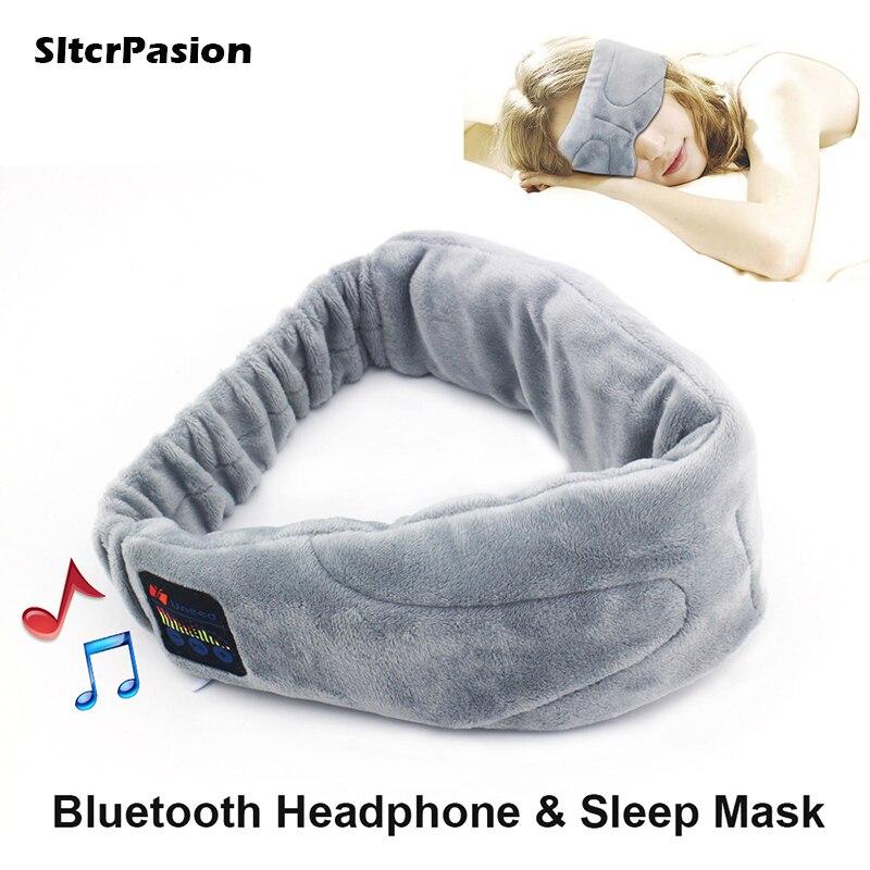 SltcrPasion 2017 New Gift Universal Wireless Stereo Bluetooth Earphone Sleep Mask Sleep Headphones,Soft Eye Mask Music Headset<br>