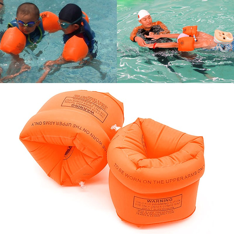 One Pair Swimming Arm Band Ring Floating Inflatable Sleeves For Adult Child Swimming Water Games Swim Arm Ring(China)