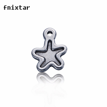 20pcs/lot  10X12mm Stainless Steel Small Star Charm Pendant For Jewelry Making  Charms DIY 0.9g