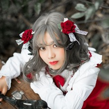 Mori girl Lolita cos rose headdress hairpin line dark side clamping claw man exhibition photography props Christmas ornaments