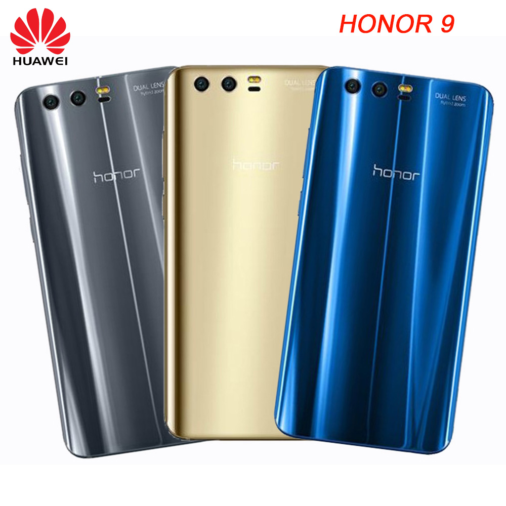 Original-HUAWEI-Honor-9-Rear-Housing-Cover-3D-Glass-Smooth-Back-Door-Replcement-Case-Adhesive-Sticker