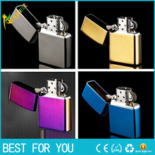 New 2016 High Quality Brand cigarette Lighters Fashion oil Metal smooth kerosene lighters grinding wheel lighters Wholesale