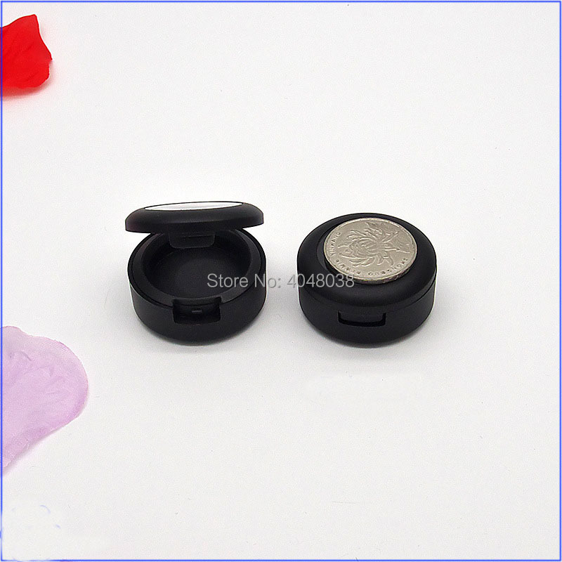 Eye Shadow Compact Matter Black Little Eyeshadow Palette Empty Cosmetic Container Monochromatic Lipstick Packing Box 50 PCS