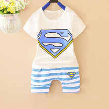 2 pcs/set Super 2016 summer infant sets baby clothing sets Cotton lovely short sleeve boy & girl clothes T-shirt+Shorts