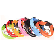Cool 8 Color S M L XL Size Nylon Cat Pet Dog Collar LED Light Night Safety Light-up Flash Glowing in Dark Fashion