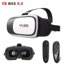 Update VR Box 2.0 VRBOX Pro ii Leather 3D Glasses Virtual Reality Headset 360 Viewing  Helmet Video for4-6' Mobile Phone +Remote