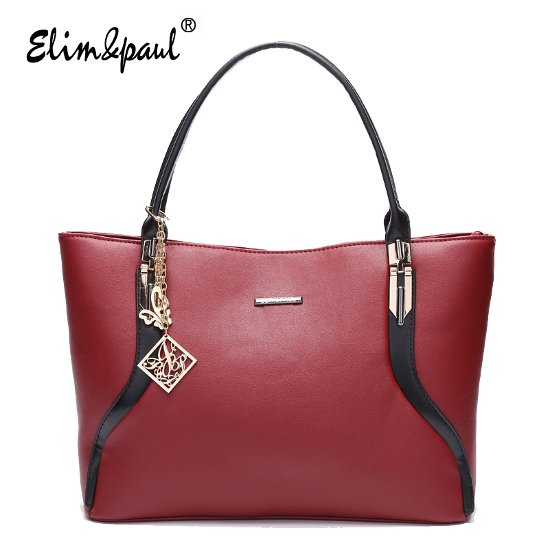 ELIM&amp;PAUL women leather handbags for women top-handle Bags designer handbags bags women tote shoulder bags ladies YL7047<br>