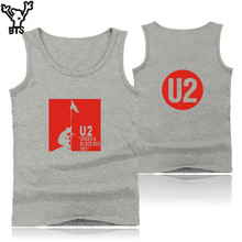 BTS U2 Logo Summer Vest Tank Top Mens Bodybuilding And Plus Size Rocky Band U2 Exercise Workout Tank Tops Mens Clothes Xxs - 4xl