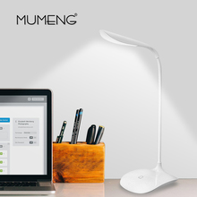 mumeng LED Desk Lamp Gooseneck Flexible Book Light Dimmable Reading Table Luminaria USB Touch Desktop Lamp Stand Table Lamp(China)