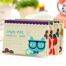 Cute Cat Planner Cute Pocket Mini Small Personal Diary Note School Notebooks And Journals Paper Books School Office Supplies(China)