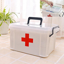 YOKEE  XL Large Family Home Medicine Chest Cabinet Health Care Plastic Drug First Aid Kit Box Storage Box Chest of Drawers