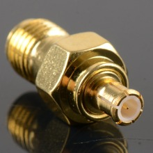 New 1 PCS Adapter SMA Female Gold Plating Jack To MCX Male Gold Plating Plug RF Connector Straight 50 Ohm VC721 P10