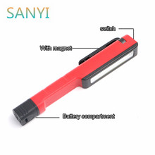 SANYI Multi-purpose working light Portable Mini LED Magnet COB Flashlight Lamp Penlight with Pocket/Belt Clip and Magnetic Base