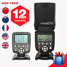 Yongnuo YN560III YN560 III Manual Radio Flash Speedlite + YN560TX YN560-TX LCD Wireless Controller For Canon 650D 60D 1100D(Hong Kong)