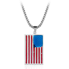 kefeng Selling American flag pendant necklace American fashion jewelry high quality metal necklace for male women jewelry gifts(China)