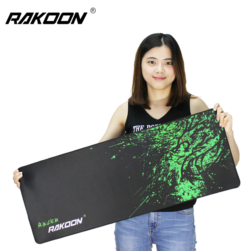 Rakoon Large Gaming Mouse Pad Computer Game MousePad World of Tanks Anime Locking Edge Mouse Mat for Dota2 CSGO LOL High Quality(China)