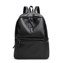 New Fashion Backpack Women Bags Travel Casual Shoulder Bag PU Leather School Backpack for College Girls Gift(China)
