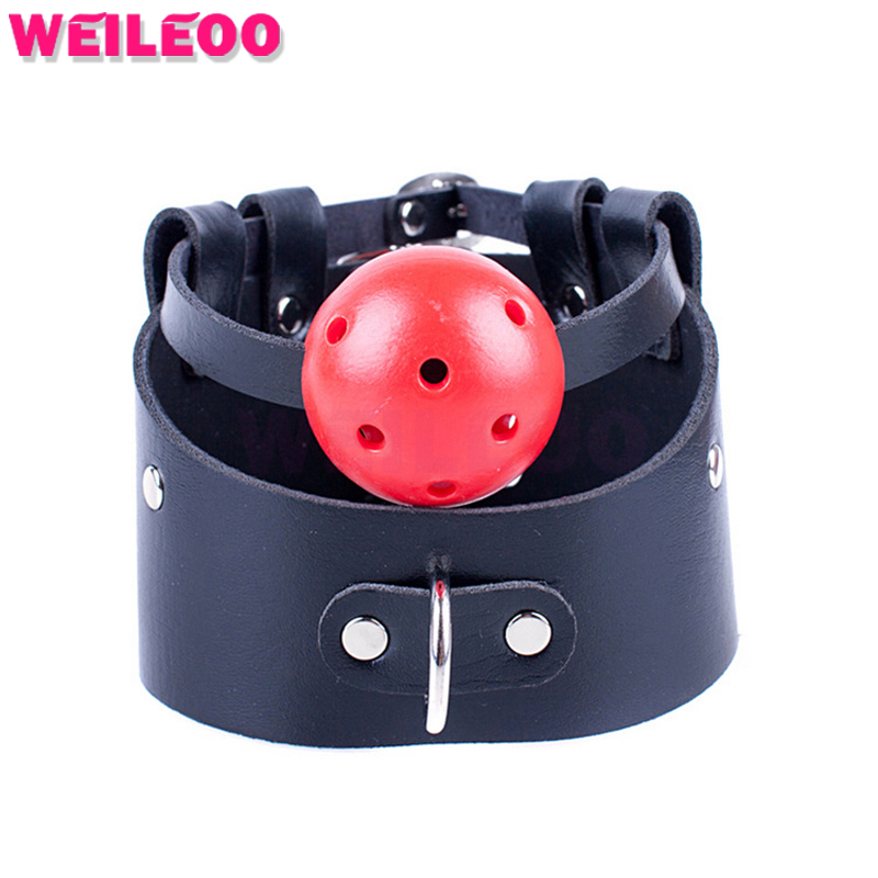 bdsm collar perforated open mouth gag ball adult sex toys bdsm bondage set fetish slave bdsm sex toys couples adult games