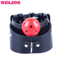 Buy bdsm collar perforated open mouth gag ball adult sex toys bdsm bondage set fetish slave bdsm sex toys couples adult games