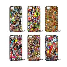 For iPod Touch iPhone 4 4S 5 5S 5C SE 6 6S 7 Plus Samung Galaxy A3 A5 J3 J5 J7 2016 2017 Bomb Stickers Car Motorcycle Bike Case