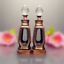 SAMBETTE 1PC 10ml Antiqued Metal Perfume Bottle Arab Essential Oils Bottle with Glass Dropper Middle East Perfume Oil Bottle(China)