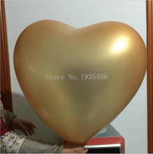 5pcs 36inch Big Heart giant balloons wedding decoration 10 Colors Ballon Helium Inflable Large love latex balloons Wholesale