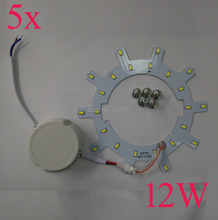 5 sets/lot 12W 1500LM LED panel board light SMD 5730/5630 LED Round Ceiling board circular lamp board + power driver 9086998