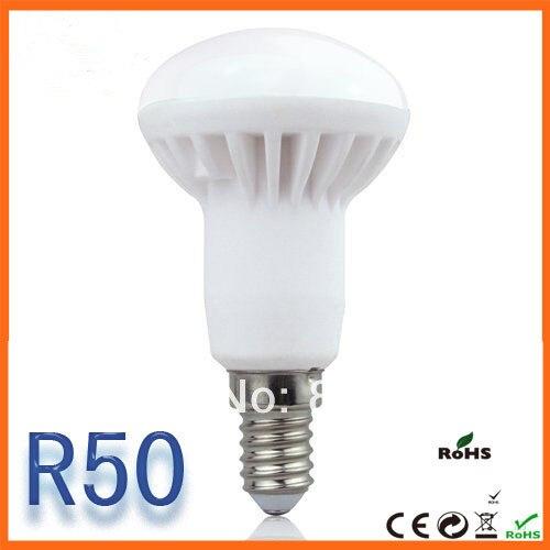 Free shipping 50 pcs/lot E14  R50 5W Energy Saving LED bulb lamp light 220V 230V 240V warm white/white<br><br>Aliexpress