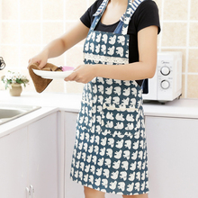 Cooking Baking Aprons Cotton Fabric Aprons Kitchen Restaurant Aprons for Women Sleeveless Apron Household Cleaning Accessories