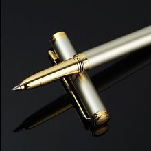 Sliver Metal Roller Ball Pen 0.5mm Luxury Brand Ballpoint Pens for Business Writing Gift School Office Stationery Supplies(China)