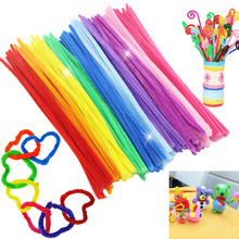 100pcs Montessori educational toy Chenille Sticks For Craft Children Educational Kid Pipe Cleaner Stems Craft Creative fun Games(China)