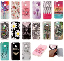 Cute Animals Bear Cat Elephant Owl Cover Case For Huawei Nova Painted Silicone Flower Daisy Coque Gel For Huawei Nova Back Cover