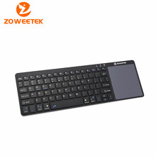 Zoweetek K12BT-1 Mini wireless Russian English Spanish Bluetooth Touchpad Keyboard Remote Control for PC Laptop Android TV Box
