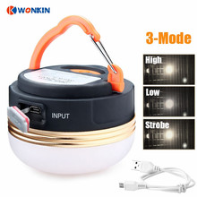 Mini Portable Camping Lights 3W Waterproof Tents lamp Outdoor Hiking Night Hanging lamp USB Rechargeable
