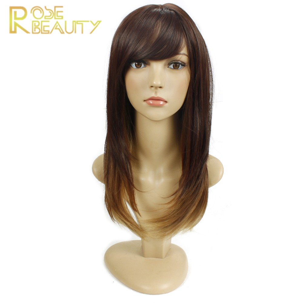 Rose Beauty ombre synthetic wigs cheap blonde straight wigs sexy female hair cut wigs Nice natural looking women wigs cosplay<br><br>Aliexpress