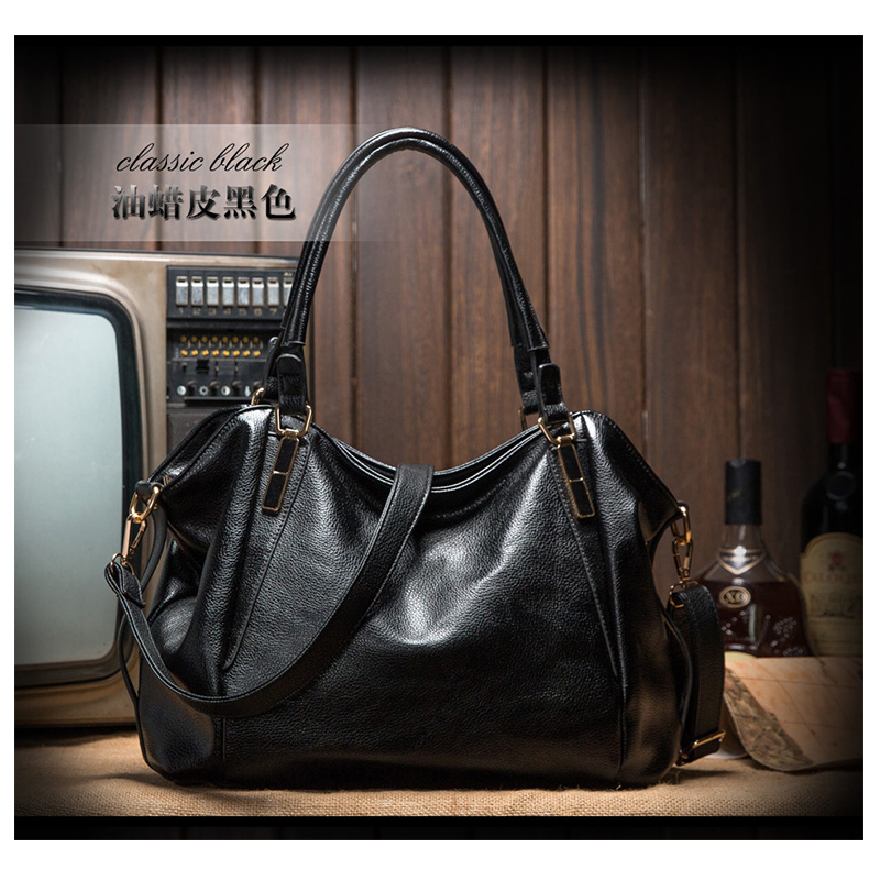 Hot PU Leather Women Bag Bolsas 2015 Design Handbag Casual Shoulder Bags Vintage Female Luxury Messenger Crossbody Big Tote<br>
