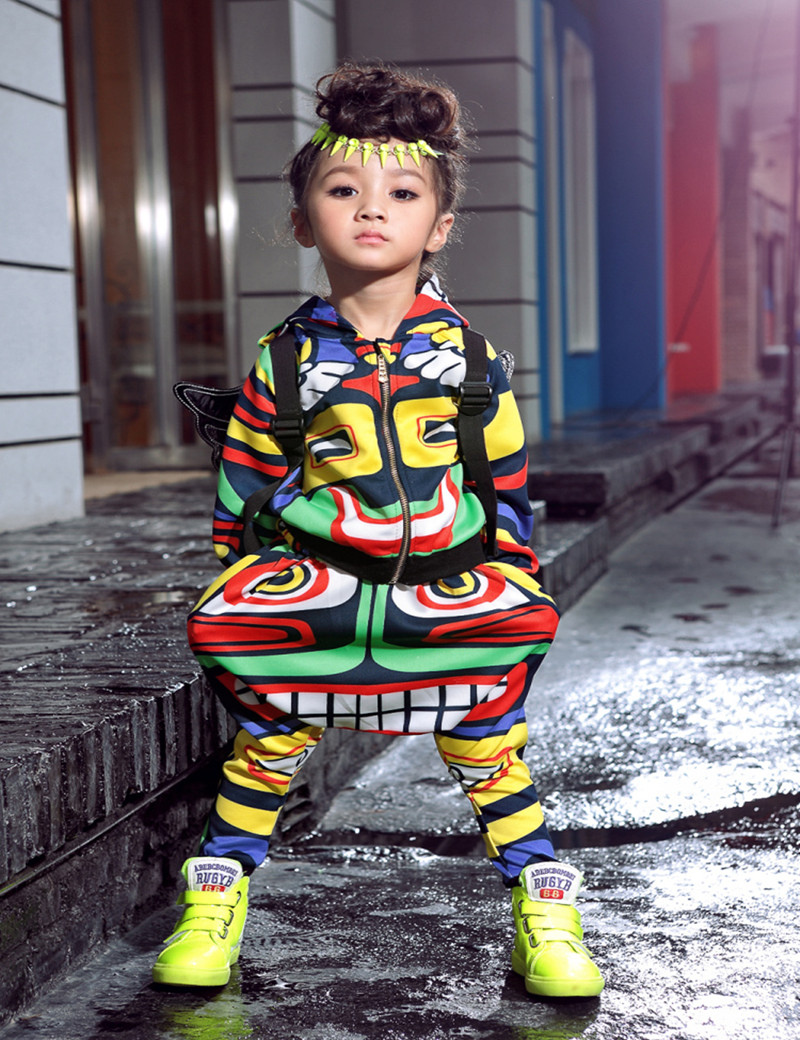 New fashion maya childrens clothing set dance wear Costumes Jamaica Totem kids sport suits Hip Hop harem pants &amp; sweatshirt<br><br>Aliexpress