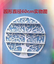 60*60CM  Hanging Wrought Iron Circular art Nail Polish Wall Rack Display stand Cosmetics shelf HS-1