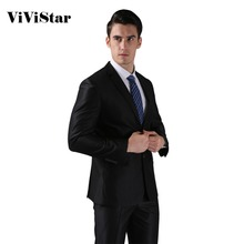 (Jackets+Pants) 2016 New Men Suits Slim Custom Fit Tuxedo Brand Fashion Bridegroon Business Dress Wedding Suits Blazer H0285(China)